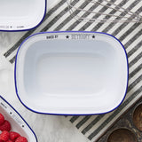 Personalised 'Baked By' Enamel Pie Dish