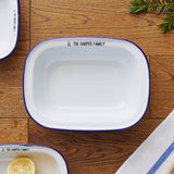 Personalised Family Enamel Pie Dish
