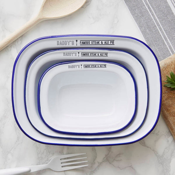 Personalised Enamel Pie Dish Gift Set For Him