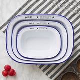 Personalised 'Baked By' Enamel Pie Dish Gift Set