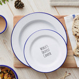 Personalised 'World's Okayest Camper' Enamel Plate