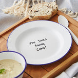 Personalised Family Camp Enamel Plate