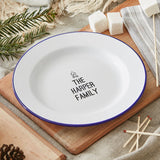 Personalised Family Enamel Plate