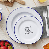 Personalised Monogram Enamel Plate