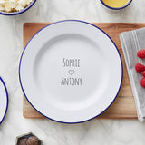 Personalised Couples Enamel Plate
