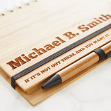 Personalised Wooden Notebook Set For Him