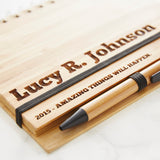 Personalised Wooden Notebook Set For Her