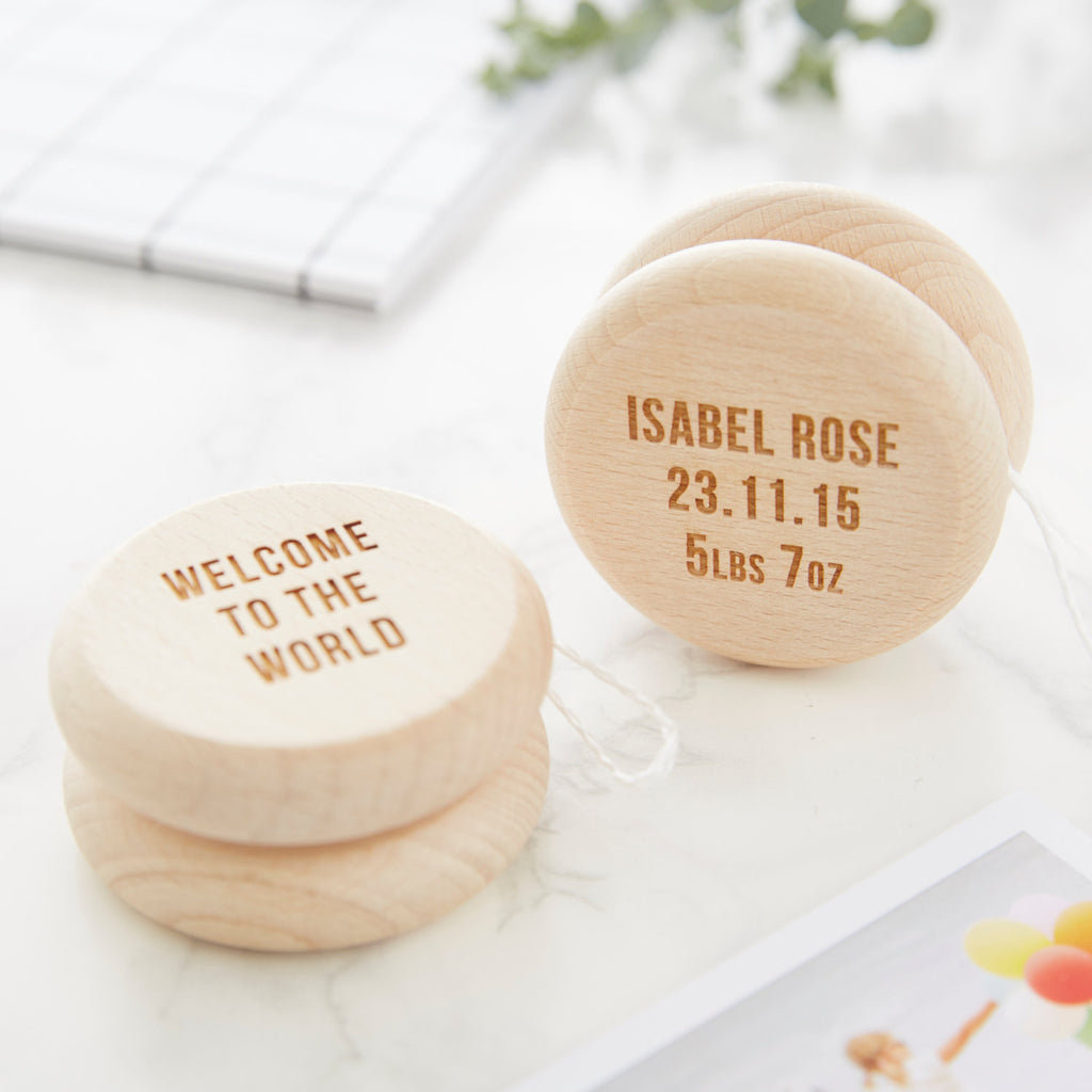 Personalised Baby Keepsake Wooden Yoyo