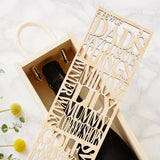 Personalised Dads Favourite Wooden Bottle Box