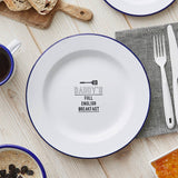 Personalised Enamel Plate For Him