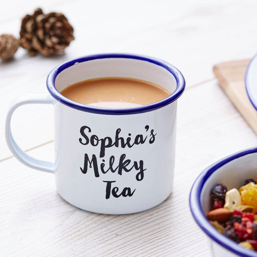 Favourite Drink Personalised Enamel Mug