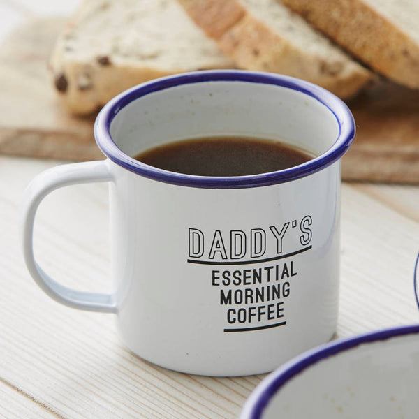 Enamel Personalised Mug For Him