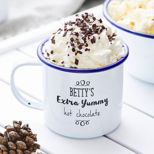 Personalised Enamel Mug For Her