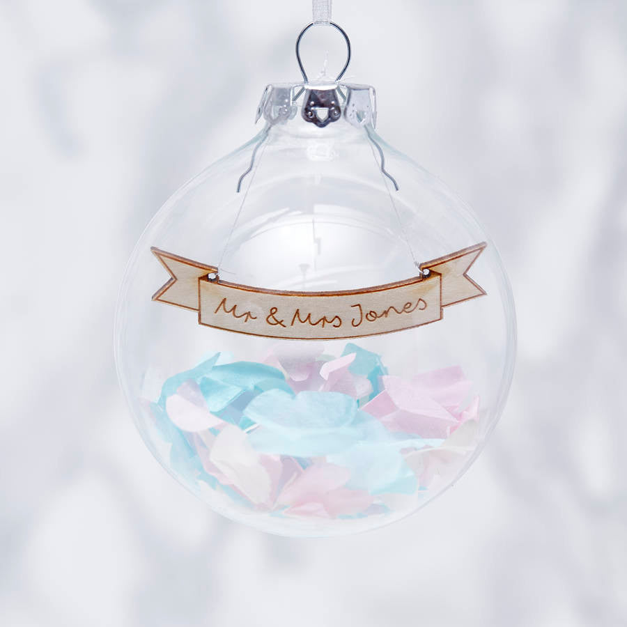 Personalised Wedding Confetti Bauble