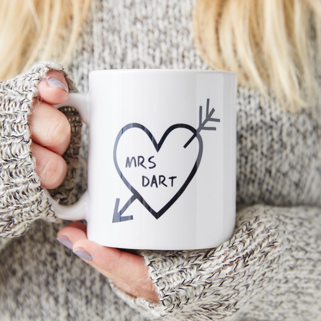 Carved Heart Personalised Mug