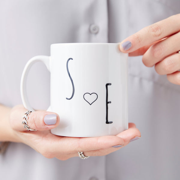 Personalised Couples Initial Mug