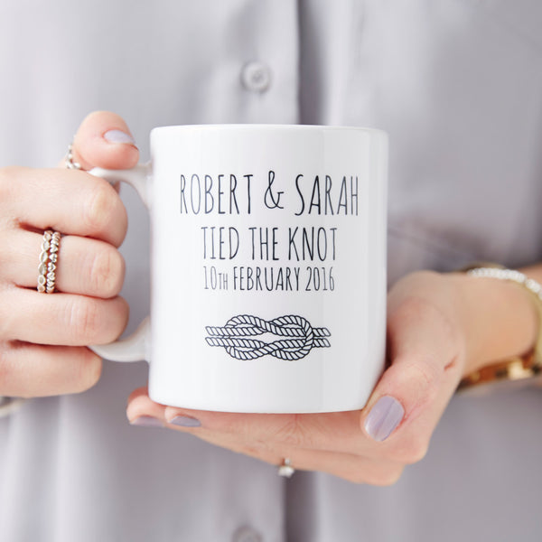 Personalised 'Tied The Knot' Mug