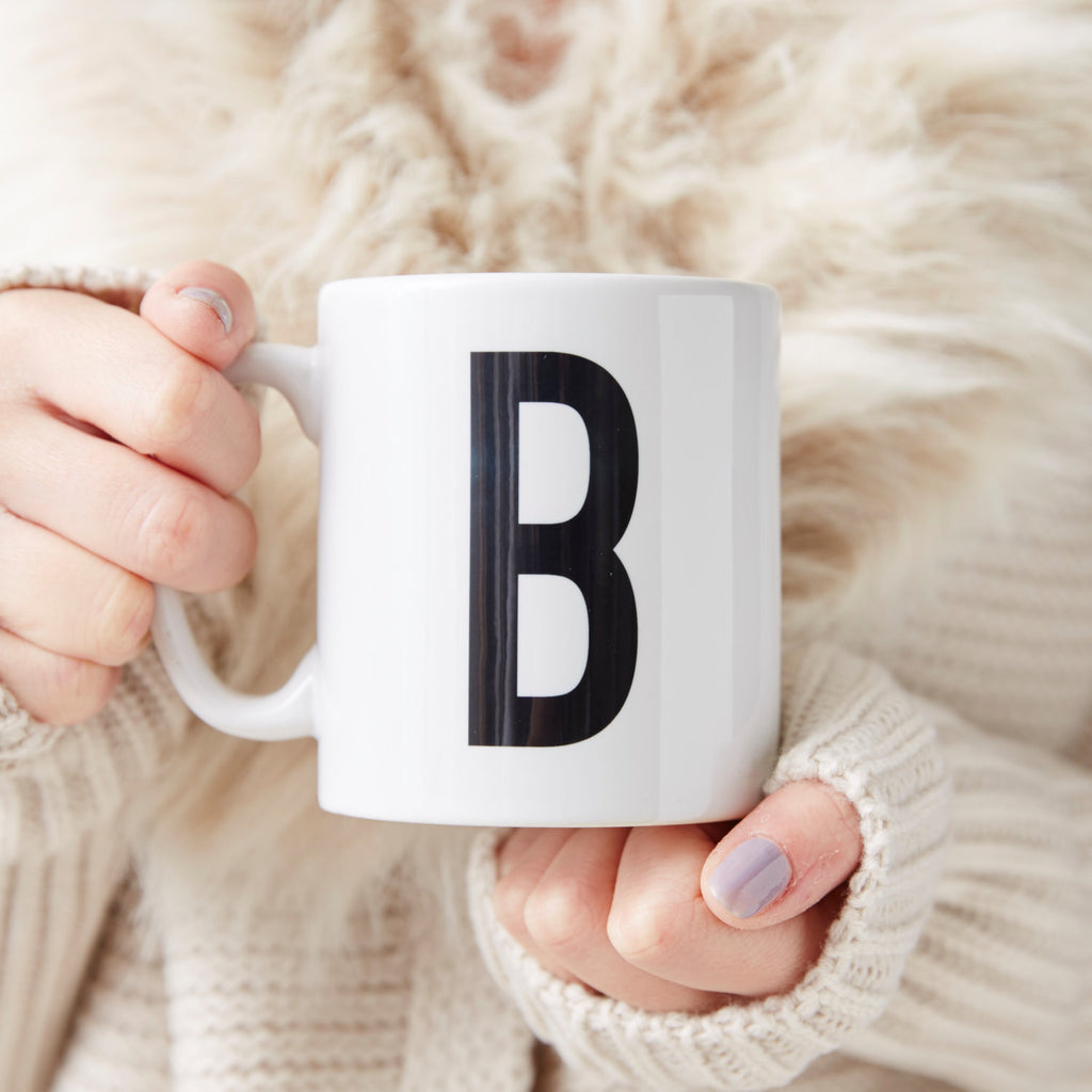 Personalised Block Initial Mug