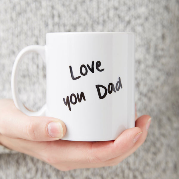 Personalised Handwritten 'Love You' Mug