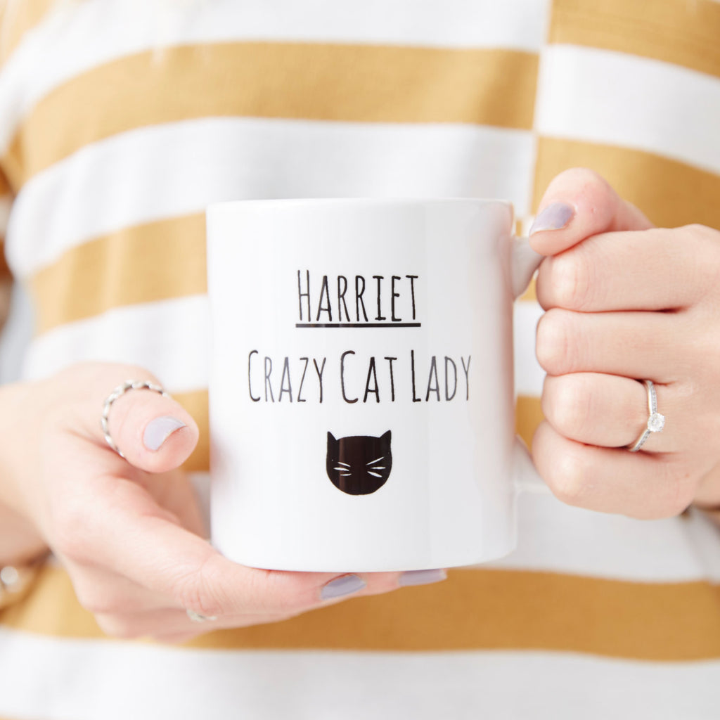 Personalised Cat Lady Mug