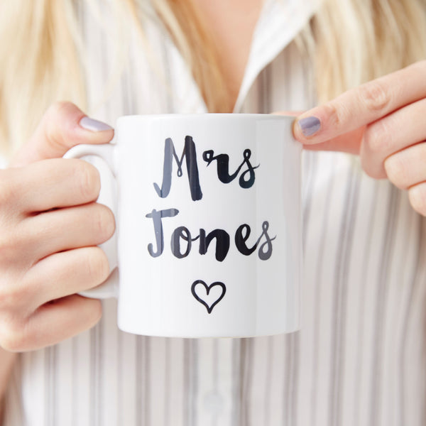 Personalised Heart Wedding Mug