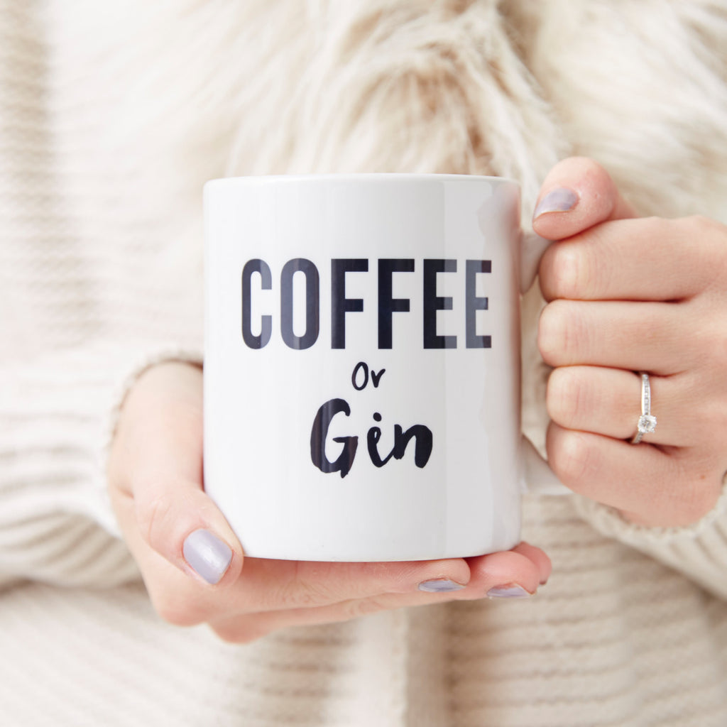 Coffee Or Gin Personalised Mug