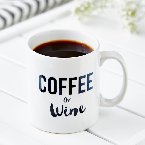 Coffee Or Wine Personalised Mug