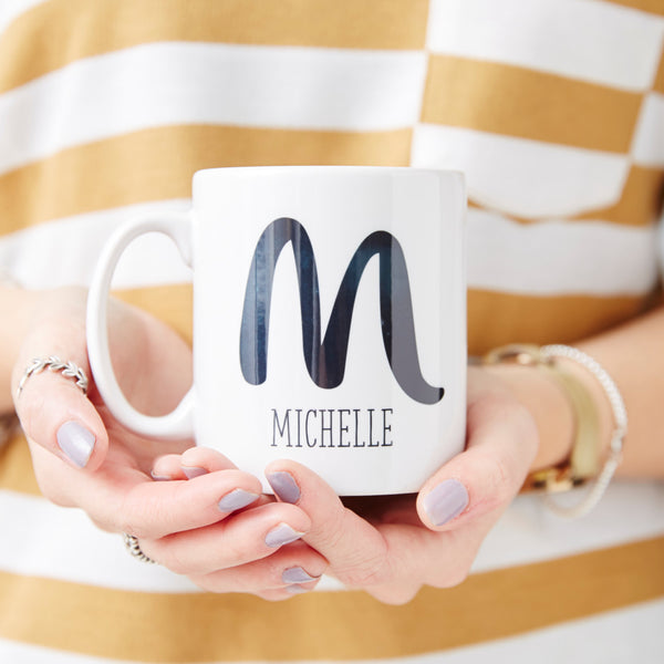 Personalised Brushstroke Monogram Mug
