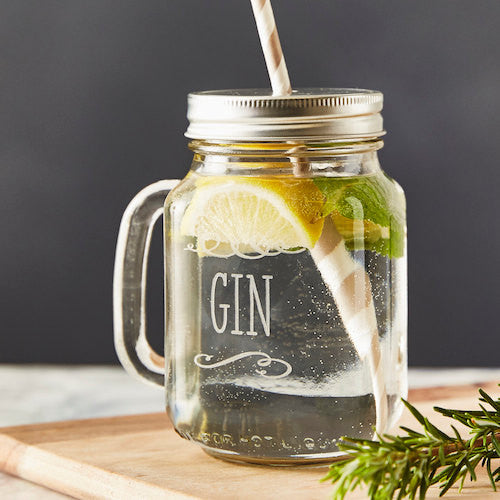 Personalised Gin Mason Jar