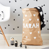 Personalised Little Hearts Children's Toy Sack
