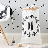 Floral Initial Personalised Children's Storage Sack