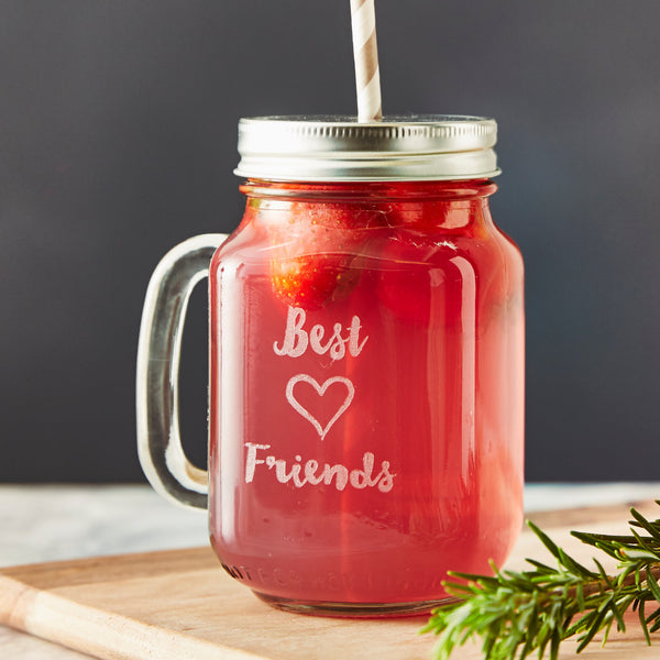 Personalised Best Friends Mason Jar