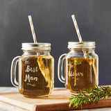 Personalised Wedding Mason Jars