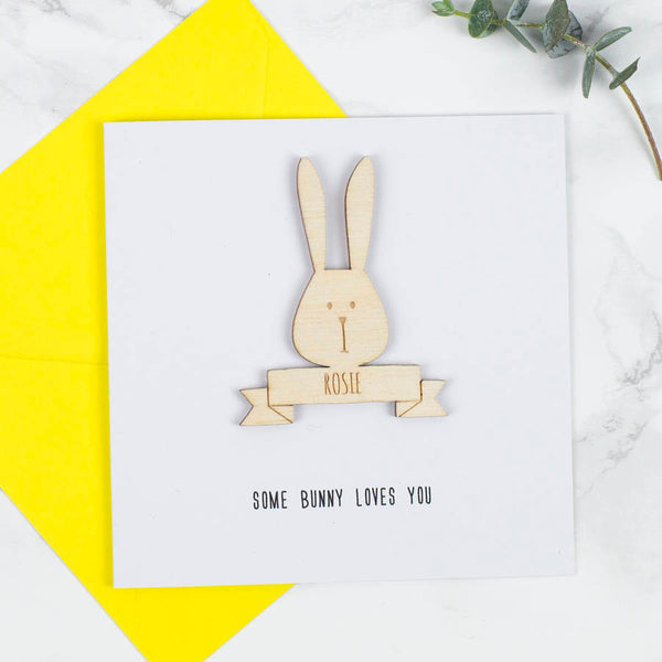 Personalised Easter Bunny Keepsake Card