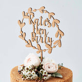 Personalised Floral Hen Party Cake Topper