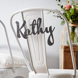 Personalised Wedding Chair Sign