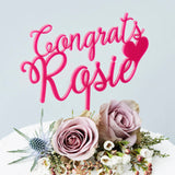 Personalised Congratulations Cake Topper
