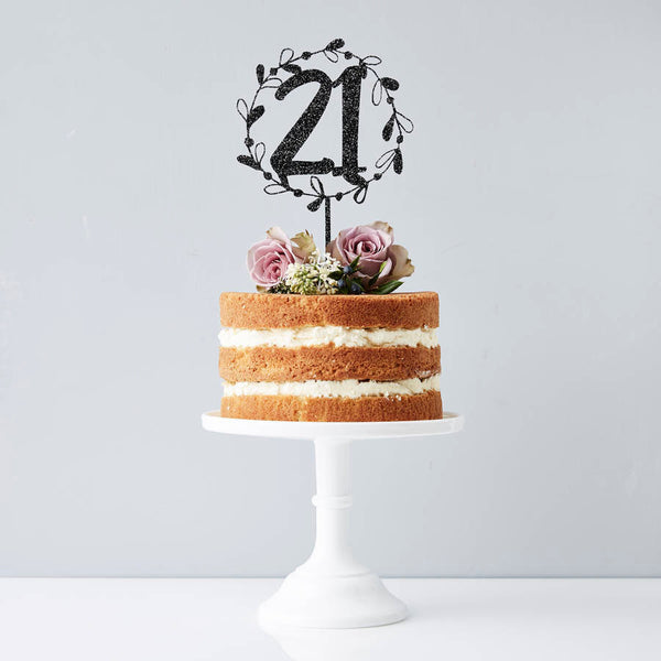 Personalised Floral Number Cake Topper