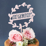 Personalised Floral Couples Cake Topper