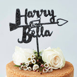 Personalised Heart Arrow Cake Topper