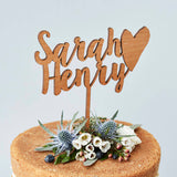 Personalised Happy Couple Wedding Cake Topper
