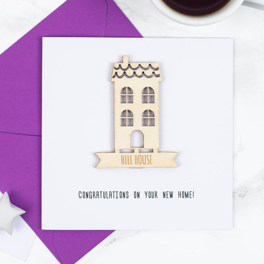 Personalised New Home Keepsake Card