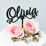 Personalised Decorative Name Cake Topper