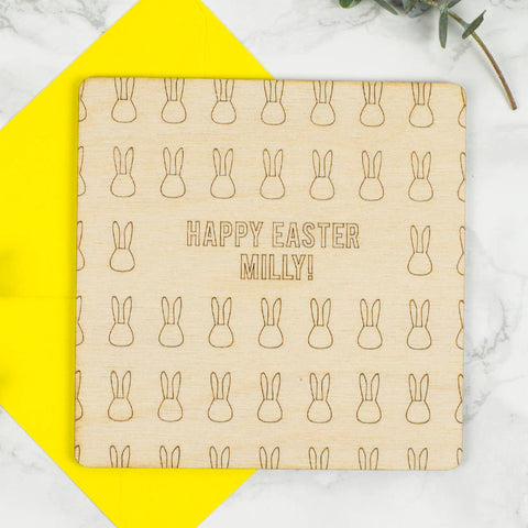 Personalised Wooden Easter Card