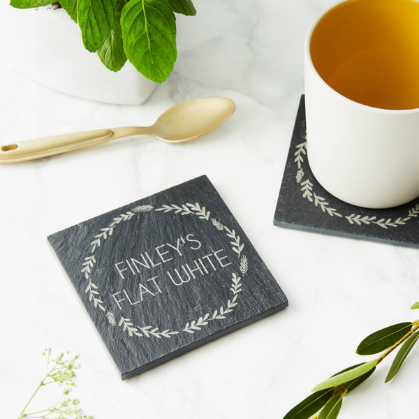 Personalised Slate Drink Coaster