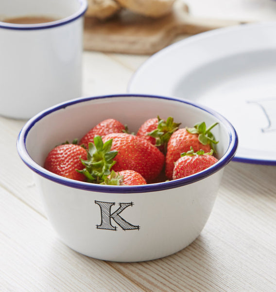 Personalised Monogram Enamel Bowl
