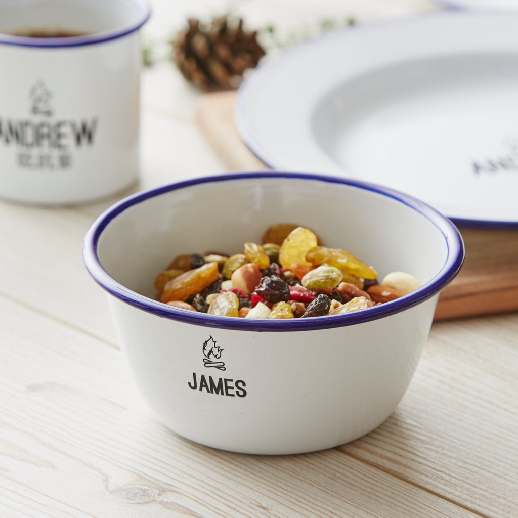 Personalised Camping Enamel Bowl