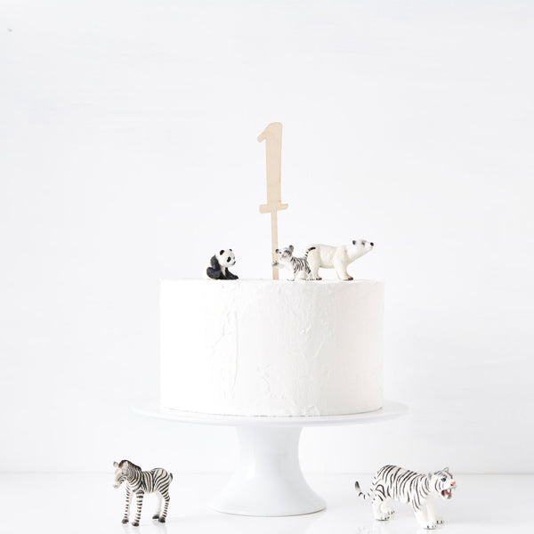 Birthday Age Wooden Cake Topper