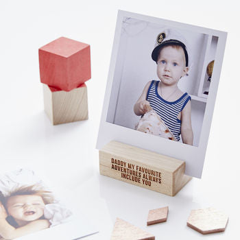 Personalised Fathers Day Photo Block