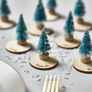Personalised Christmas Tree Place Settings